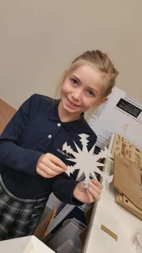 Elsa couldn't have made a better snowflake herself! :-)