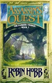 The cover for Assassin's Quest is rich, green, fantastical, ornate and intimate.
