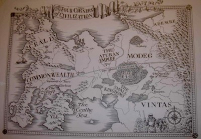 Map from Patrick Rothfuss' Name of the Wind
