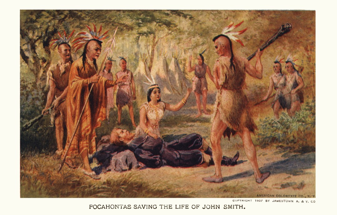 06PCJamestown Exposition00010 - Pocohantas saving the life of John Smirh copy