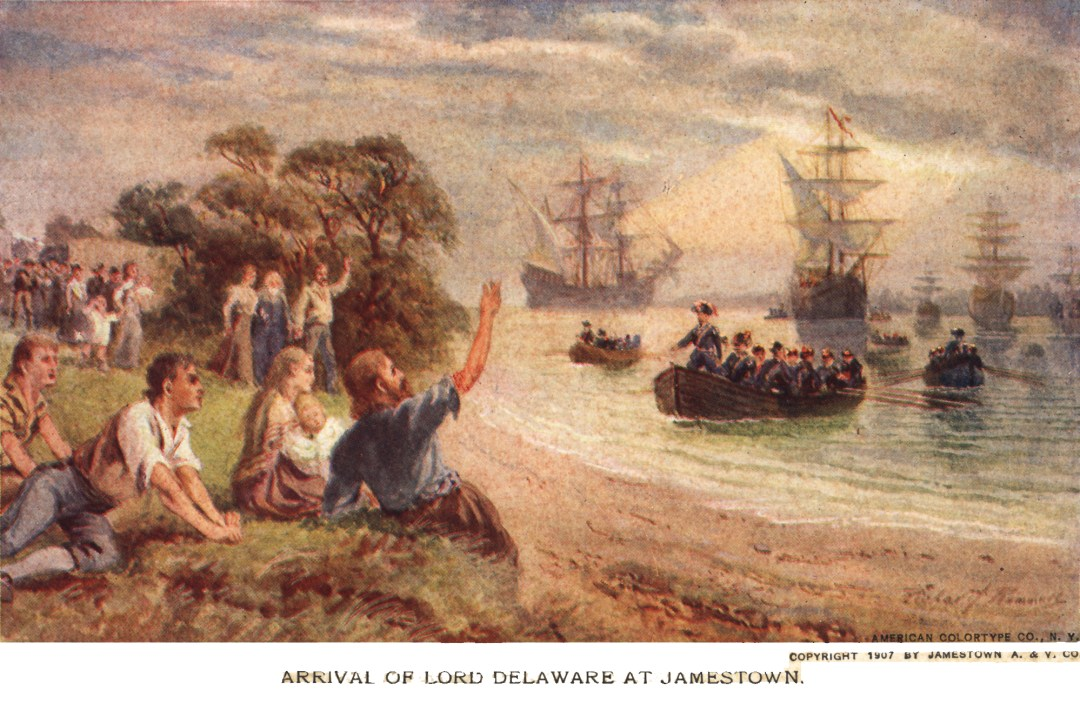 06PCJamestown Exposition00015 - Arrival of Lord Delaware copy