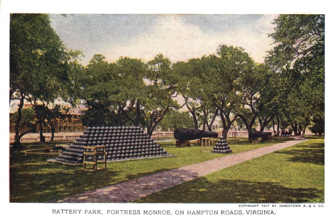06PCJamestown Exposition00045 - Battery Park, Ft. Monroe copy