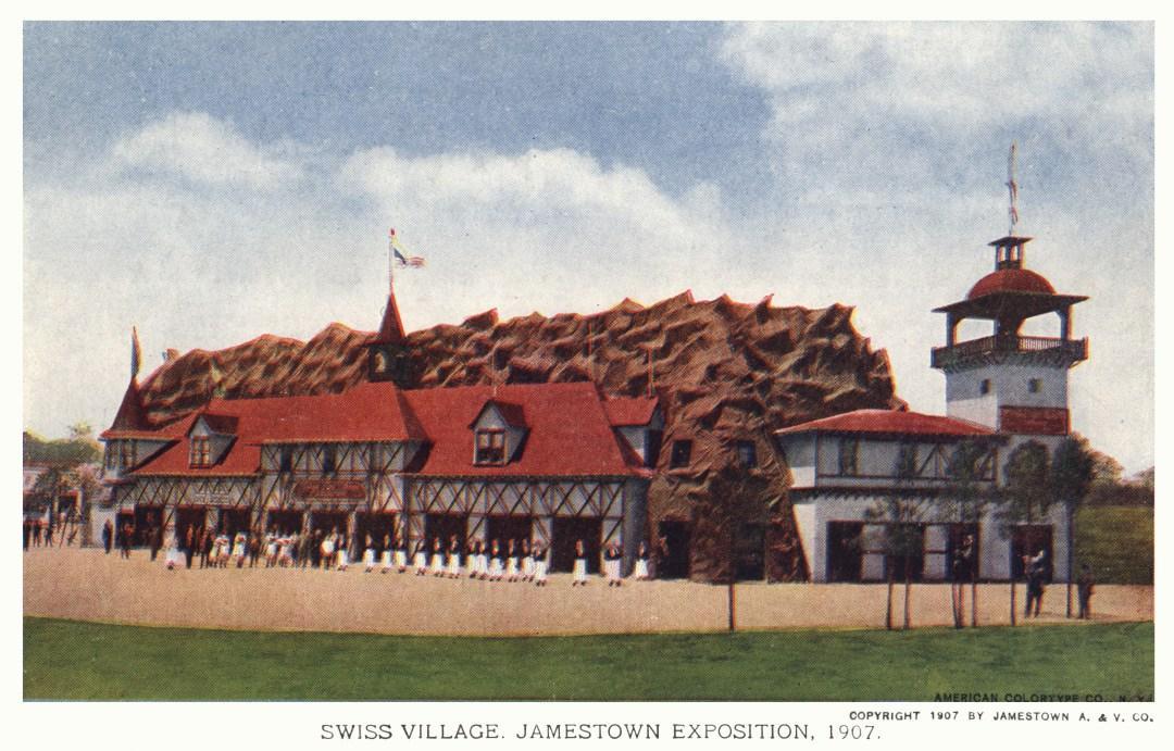 06PCJamestown Exposition00168 - Swiss village copy