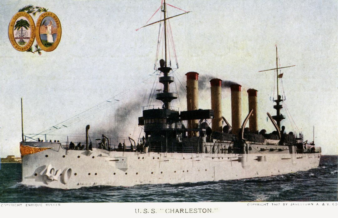 06PCJamestown Exposition00189 - USS Charleston copy