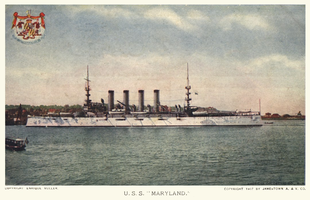 06PCJamestown Exposition00192 - USS Maryland copy