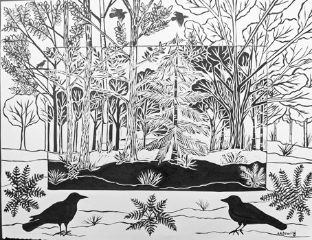 5 Crows by Audrey Dowling