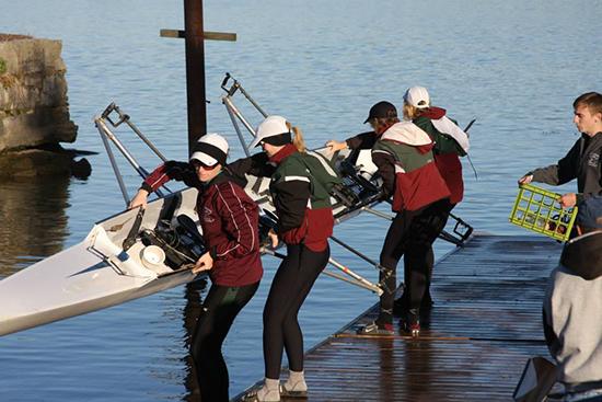 Women's 4+ at the Head of the Niagara  in Buffalo NY