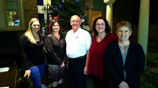 HOPE Chautauqua Coalition Members that are part of the CHQ Bright Spots Team. (L to R) Bree Agett, Renee Prechtl, Bob McDowell of the Knights of Columbus, Julie Franco and Krista Camarata.
