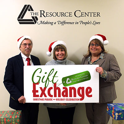 (L to R): Greg Lindquist, Executive Director for the Jamestown Renaissance Corporation, Terri Johnson, TRC Director of Employment and Community Services, and Heather Brown, TRC Assistant. Executive Director