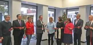 Chautauqua County Chamber of Commerce and Manufacturers Association of the Southern Tier officially opened their new offices in downtown Jamestown on Friday, November 22.