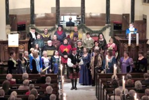 In renaissance costumes, Chautauqua Chamber Singers perform a mixture of traditional Christmas carols at free concerts at First Lutheran Church in Warren on Saturday, Jan 11, and First Presbyterian Church in Jamestown on Sunday, Jan 12.