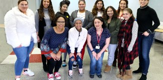 """Jamestown High School has a new club to support and rally young women called the BRAVE Girls Club. The club began when JHS staff, Lindsey Rensel, Faith Graham, Bonnie Schnars, Carmen Perez, Sue Mead, Betsy Rowe-Baehr and Yanira Castellano decided that when girls count on each other, everyone is better for it. """"It's important for all students to know that we are rooting for them. But this effort is to rally around females who are seeking a sisterhood,"""" said JHS teacher Betsy Rowe-Baehr. """"It's encouraging for all of us in the BRAVE circle to hear other stories and to be inspired by others' strengths. We are really just getting started with how this could make an impact."""" The BRAVE event that took place this fall helped to highlight how empowering females to find worth and value is also a direct correlation to combattinghuman trafficking. The JHS team of female adults and mentors are taking the initiative to help students dig deeper with this concern and develop the skills and support to cope with life. Any JHS female student who would like to join the effort to build life skills, social supports and strong friendships is invited to the club. Each week there is a different theme (BRAVE friendships, BRAVE goals, BRAVE hearts, etc.) and ultimately, the mission is to use these topics to facilitate meaningful conversations and relationships so that young women feel inspired to pursuethemselves in a healthy way. The BRAVE Girls Club meets every two weeks, but they hope to extend the experience with field trips, community activities, and fun events in the future."""