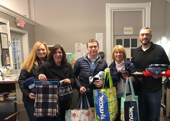 CCBR Public Relations Committee Members delivering donations to UCAN City Mission earlier this year. L to R: Darcie McLachlan, CCBR Executive Officer; Judy Weilacher; Bill Burley; Sandy Calalesina; and Jeff Rotunda, UCAN Program Director.