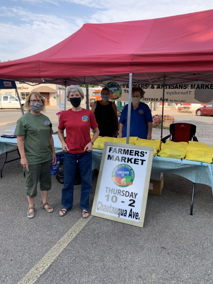 The Lakewood Farmers' and Artisans' Market coordinators:  (Left to Right) Pat Borowsky, Bernadette van der Vliet, Denise Doane, and Judy Wronda.  Missing is Ruth Wahl.