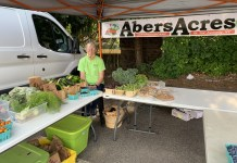 Sondra Johnson, Abers Acres Market Stand Operator from the Lakewood Farmers' and Artisans' Market.