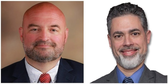 """The Candidates for Chautauqua County Executive: Paul """"PJ"""" Wendel (Republican, Conservative, Independence)  and Richard Morrisroe (Democratic, Working Families)."""