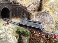 Amtrak 764 on James Canyon Trestle