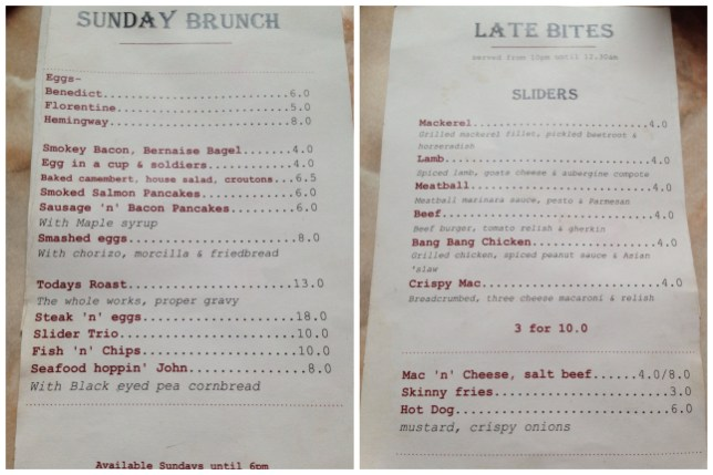 Sliders – Kelvingrove Cafe, Glasgow – James vs. Burger