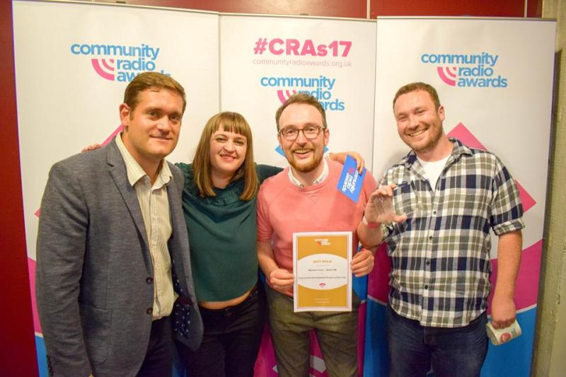 Jay Sykes and me, collecting our Community Radio Award.
