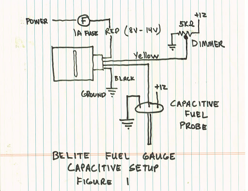 manual for new universal led fuel gauge from belite electronics - aircraft  fuel gauge wire diagram