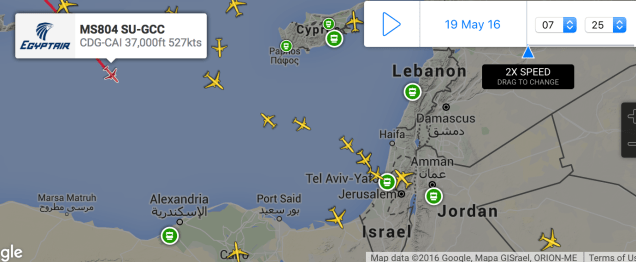 EgyptAir flight MS804 other aircraft 16
