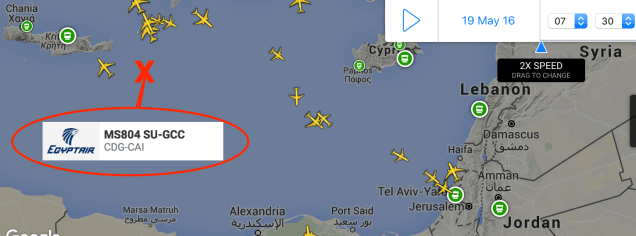 EgyptAir flight MS804 other aircraft 17