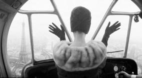 CARDIN HAT OVER PARIS Paris, France, 1960
