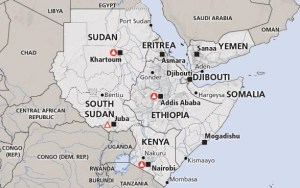 Horn of Africa Recent Map