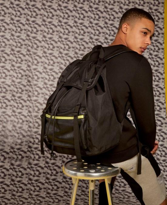 ASOS Black S/S14 Lookbook menswear mensfashion asos geometric print pattern soring summer backpack joggers exclusive geometric print