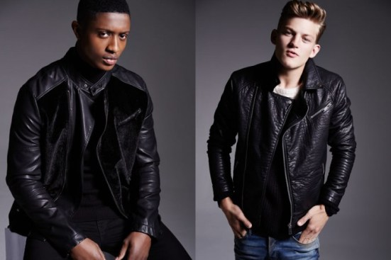 River Island A/W14 Menswear Lookbook all black everything. leather jackets biker jackets bomber jackets style