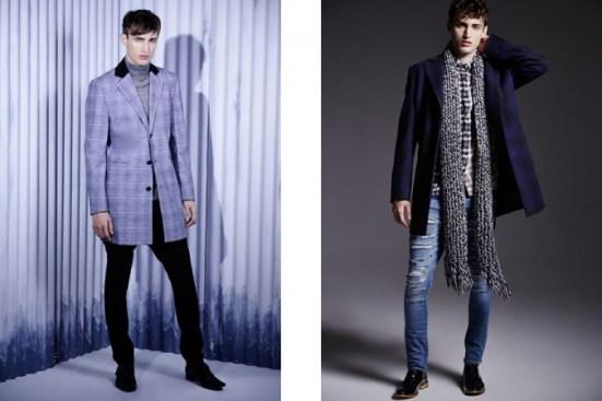 River Island A/W14 Menswear Lookbook prints patterns style fashion jeans denim fashion mens fashion