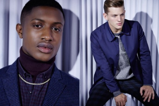 River Island A/W14 Menswear Lookbook suiting tailoring trousers blazer suit jacket prints patterns tweed menswear mensfashion lookbook campaign style