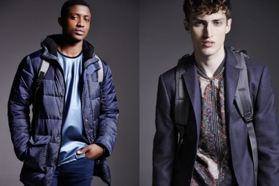 River Island A/W14 Menswear Lookbook outerwear jackets coats blazers suiting leather prints patterns bomber jacket s