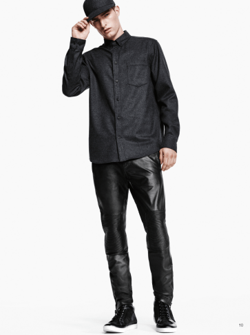 H&M Man Trend A/W14 Lookbook, 'All Black Everything'. HM HMtrend trend hmmantrend lookbook fashion collection style fashion menswear mensfashion