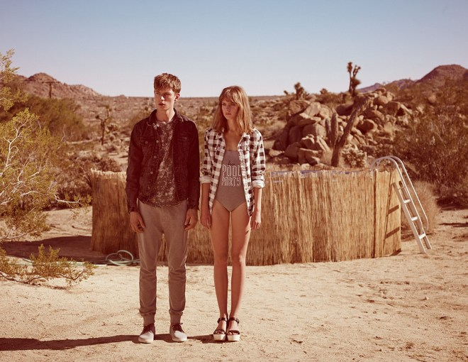 Pull & Bear Menswear Trend Reflection Lookbook S/S14 american photo shoot outback texas redneck deep south style fashion student