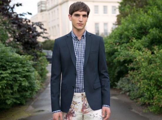 Zara 'Play' Menswear S/S14 Lookbook plaid printed check shirt blazer tailoring suiting pattern shorts
