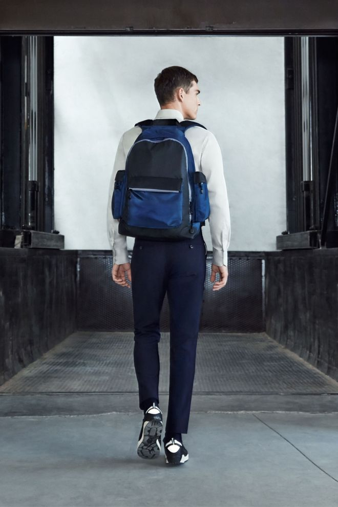 Zara A/W14 Menswear Lookbook Update backpack shoes accessories white shirt trousers formal suiting tailoring