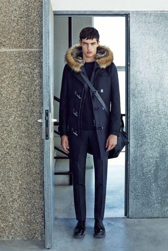 Zara A/W14 Menswear Lookbook Update fur trimed parka jacket fitted tailored trousers