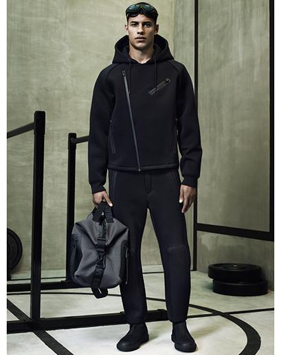 Alexander Wang For H&M Full Menswear Lookbook #AlexanderWangxHM neoprene scuba jacket trousers bag menswear accessories