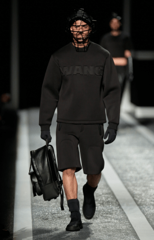 Alexander Wang For H&M Menswear Collection #AlexanderWangXHM black leather sweater jumper style fashion shorts leather backpack accessories
