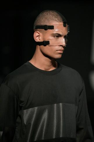 Alexander Wang For H&M Menswear Collection #AlexanderWangXHM leather mesh black jumper sweater knitwear