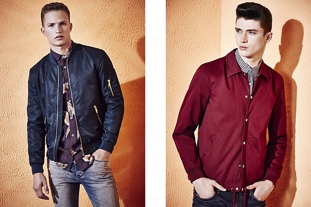 River Island S/S15 Menswear Lookbook style fashion outfit menswear mensfashion bomber jackets denim prints patterns male model lookbook outfit style