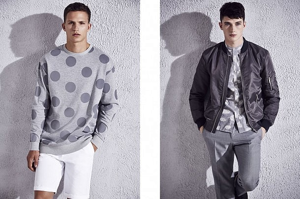 River Island S/S15 Menswear Lookbook casual street style spring summer 2015 polka dot bomber jacket shorts suits tailoring trousers outfits jackets denim style fashion