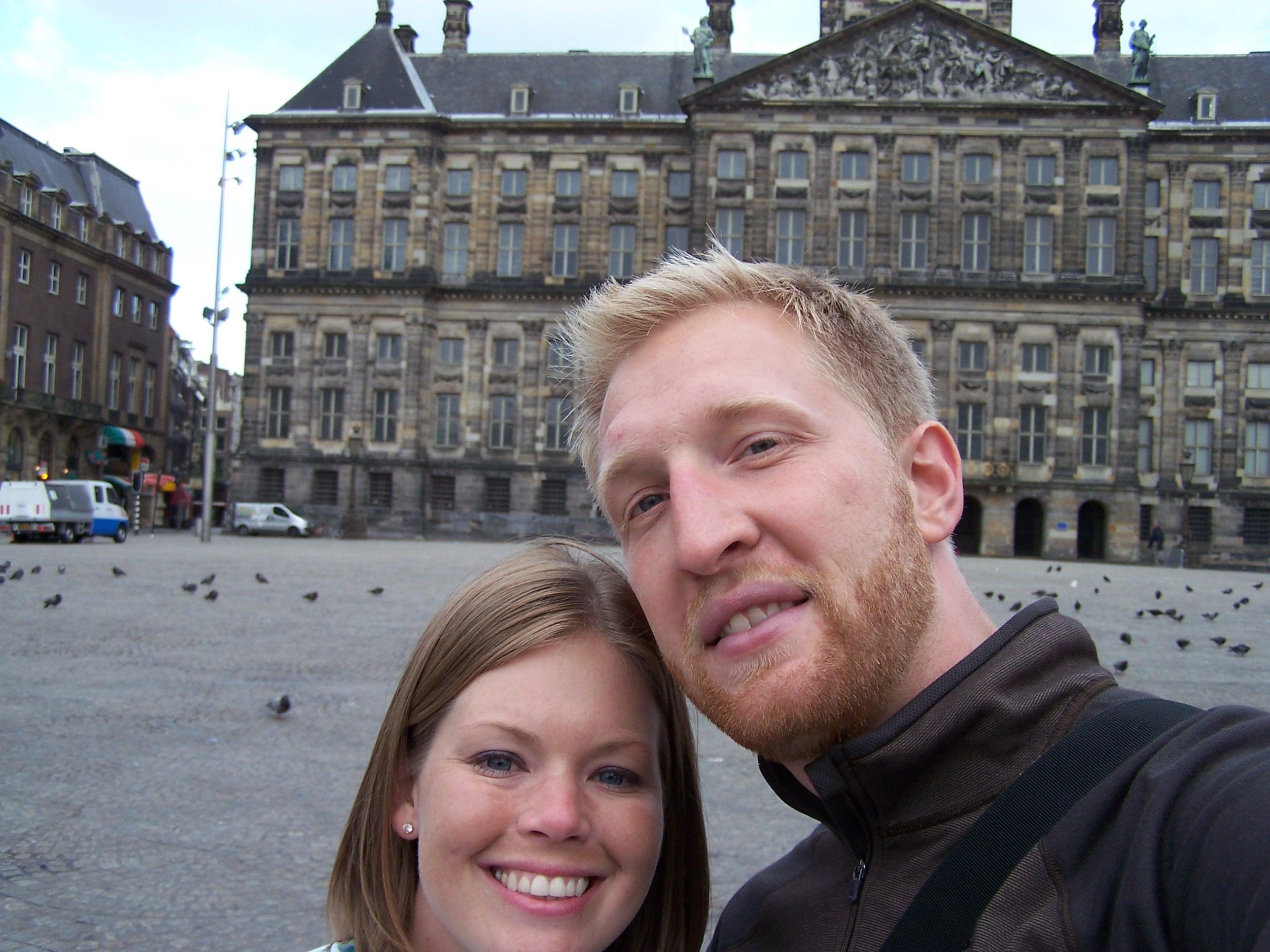 Dam Square in Amsterdam.