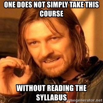 Syllabus Meme