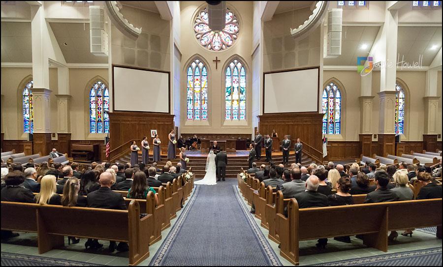 Atlanta GA  Church of the Apostles Wedding Venue  Jamie Howell