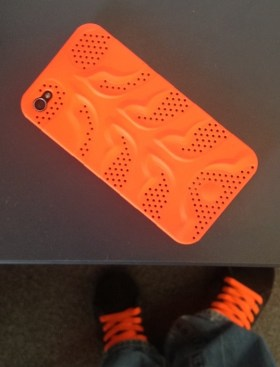 iPhone 4 orange case