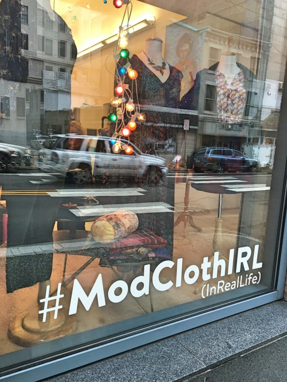 #ModClothIRL Pittsburgh store front