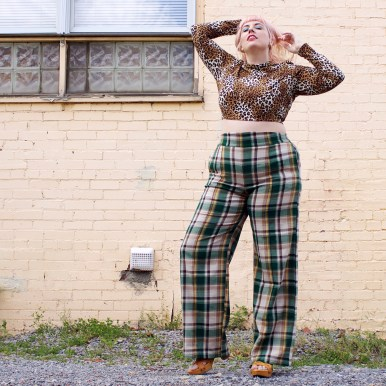 Joanna crop top & Laura Byrnes California Wide Leg Trousers
