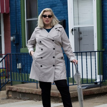 Plus Size Trench Coat.